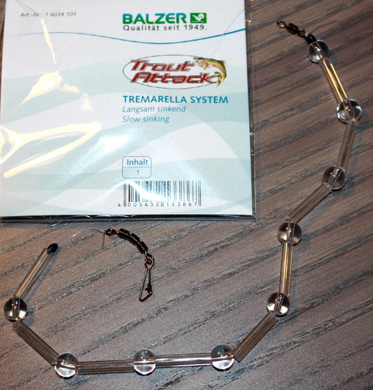 Balzer Trout Attack Tremarella Set 4 Systeme Sehr Langsam Mittel Schnell sinkend